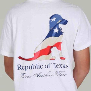 USA! Flag Pocket Lacy Dog Tee