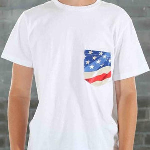 USA! USA! USA! FLAG POCKET TEE