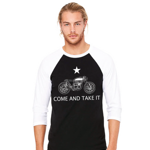 Come and Take It Cafe Racer 3/4 Sleeve Tee