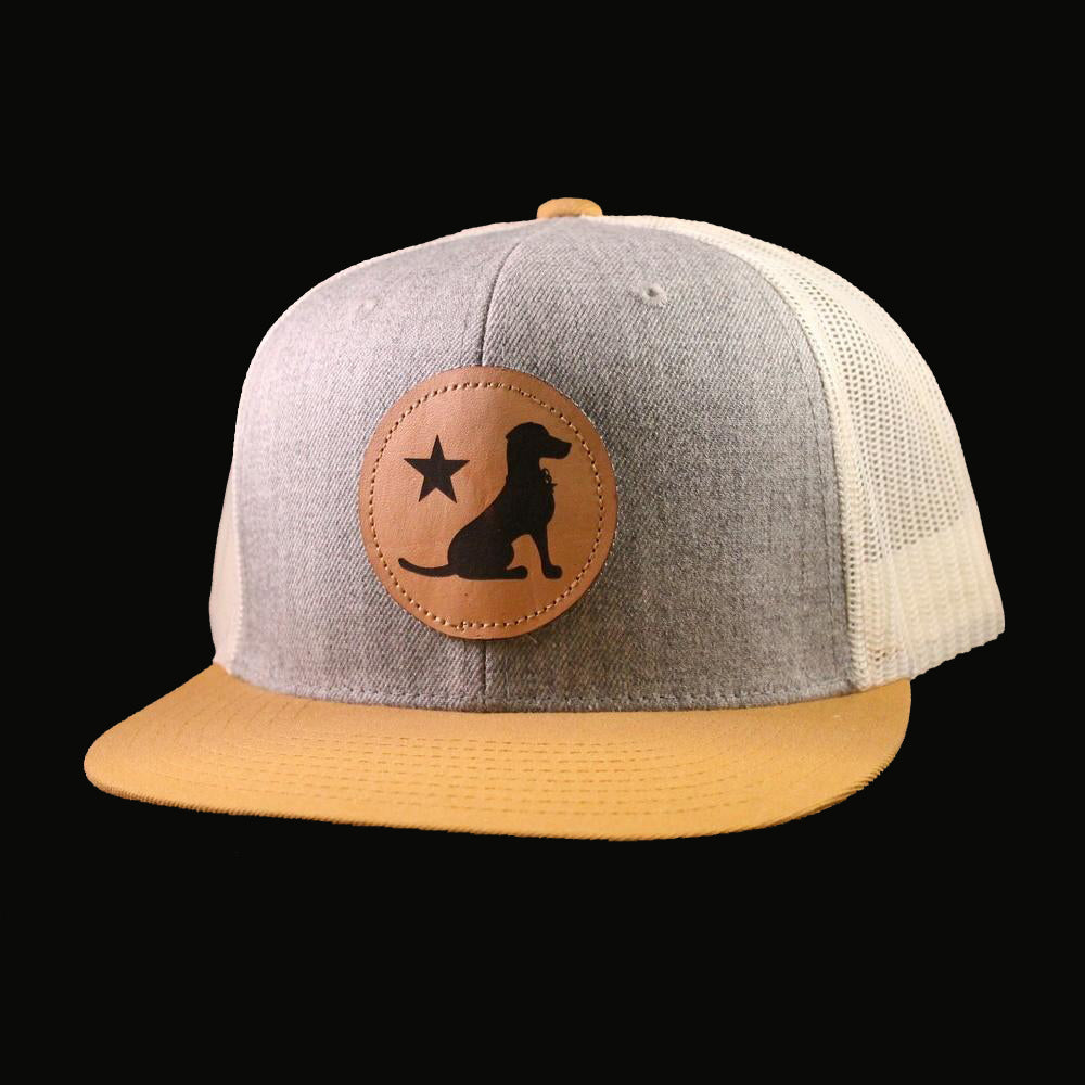 Texas Dog Leather Patch Cap