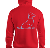 VIntage Lacy Dog T-Shirt Hoodie Bright Red