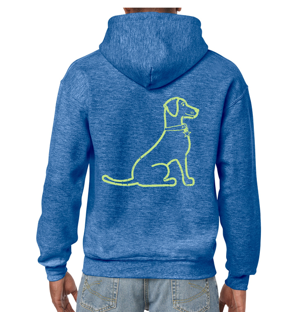 VIntage Lacy Dog Fleece Hoodie Royal Blue Heather