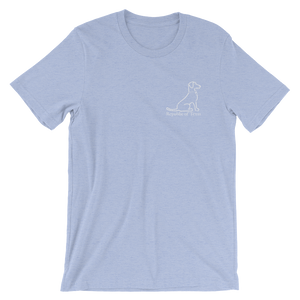 Vintage Blue Lacy Dog Short Sleeve Adult Tee