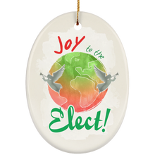 Load image into Gallery viewer, Joy To The Elect! Ceramic Oval Ornament