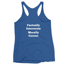 Load image into Gallery viewer, Factually Inaccurate Women's Front and Back Print Racerback Tank