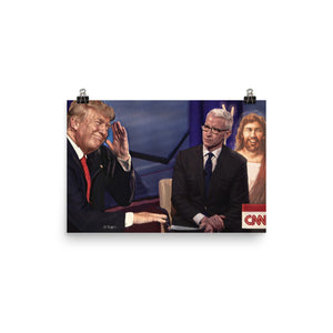 Trump And Jesus Fake News Print