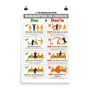 Worship Dos and Don'ts Poster