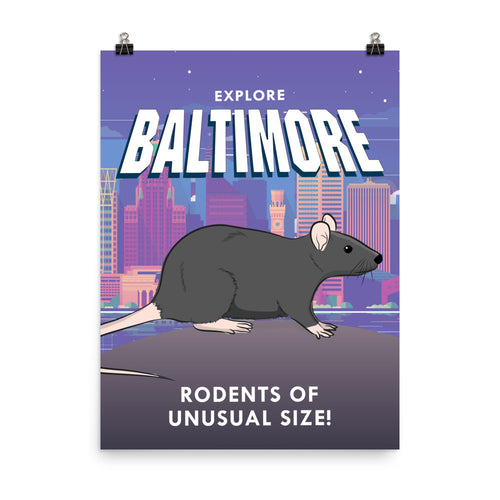Baltimore Travel Poster