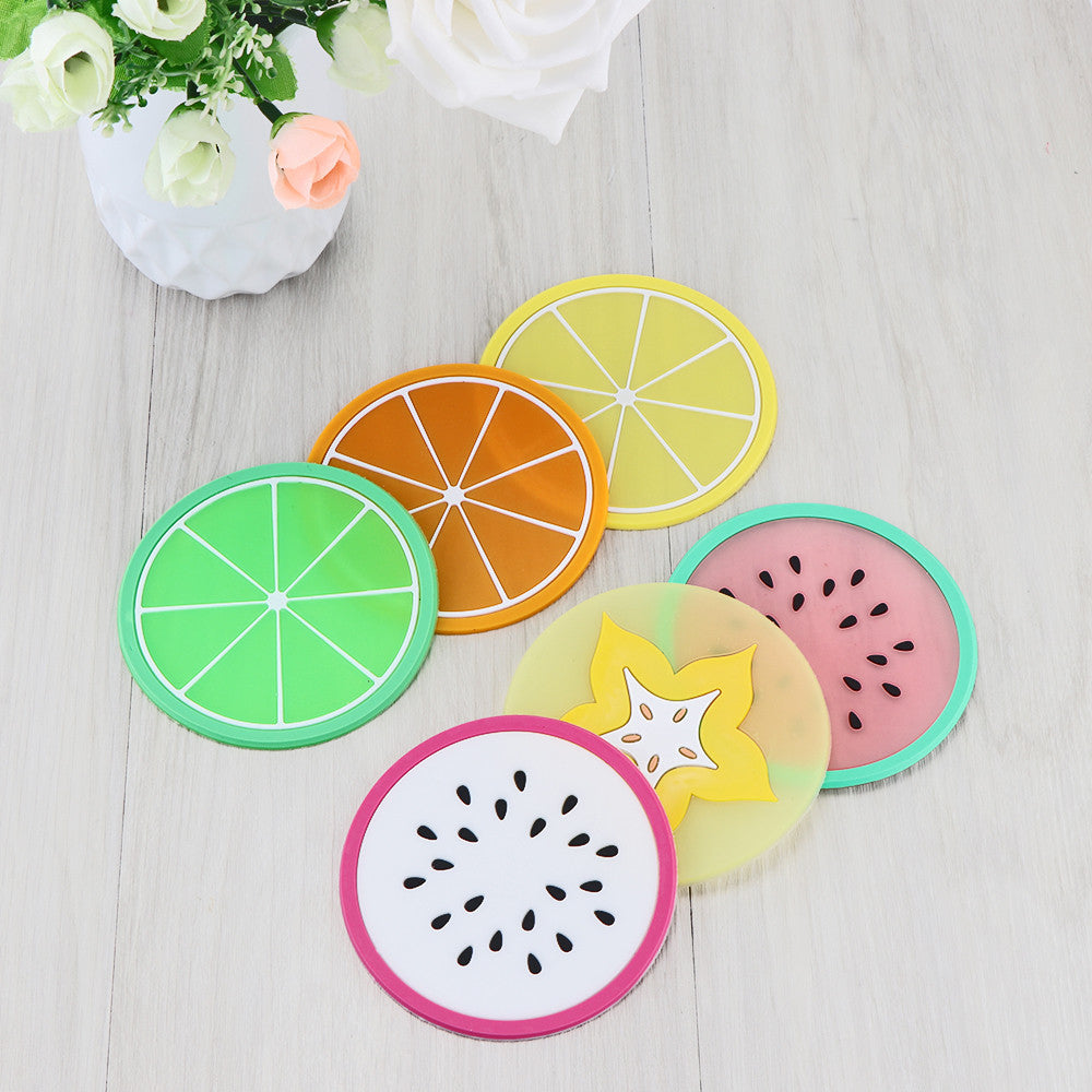 6 Piece Fruit Coaster Set