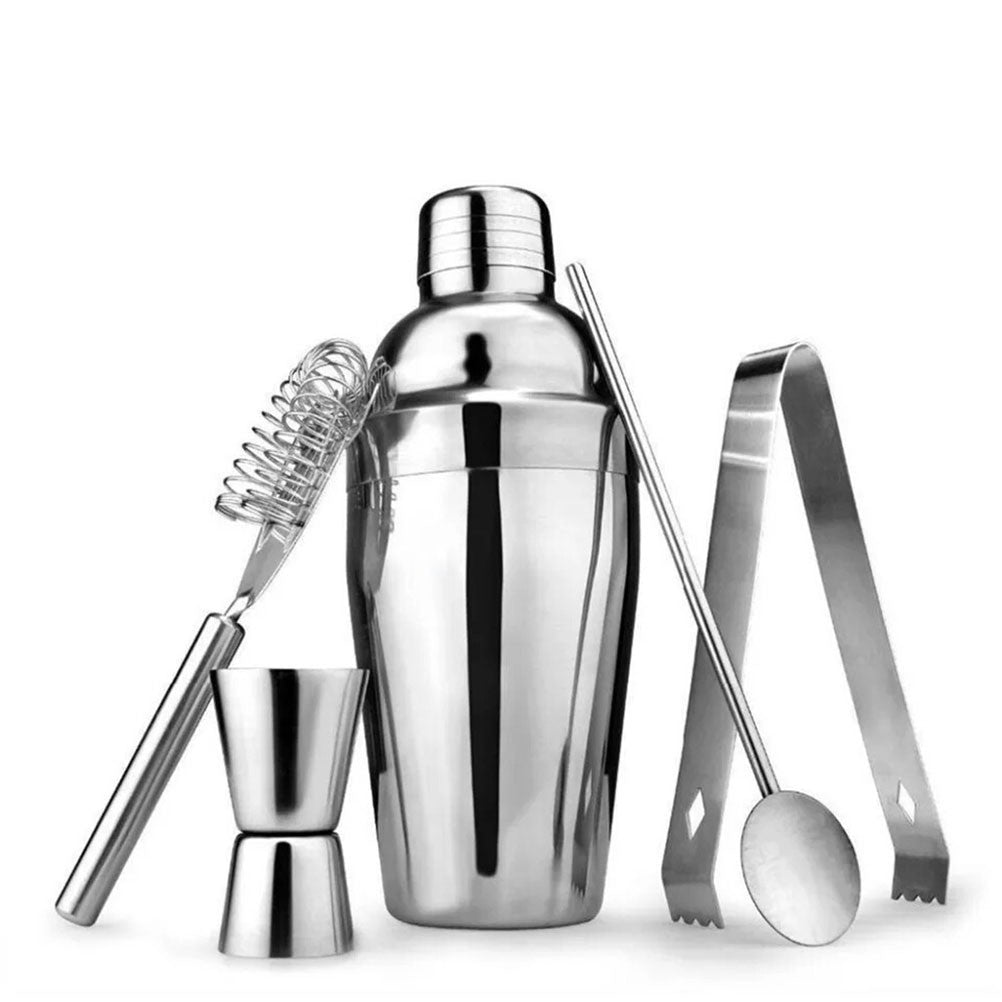 5 Piece Stainless Steel Bartender Tool Kit