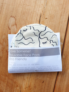 Reusable Eco Fleece Face Wipe Pack of 7