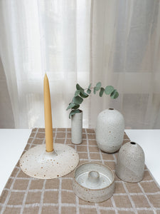 Viki Weiland Danish Stoneware Flat Candle Holder