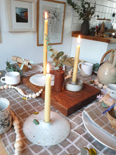 Load image into Gallery viewer, Viki Weiland Danish Stoneware Flat Candle Holder
