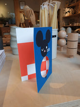 Load image into Gallery viewer, Darling Clementine Pantomime Mouse Fold Out Card