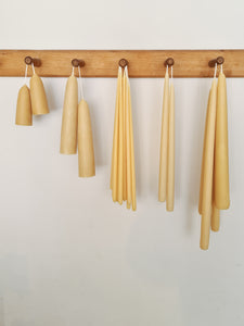 Long Thin Taper Beeswax Candles