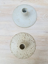 Load image into Gallery viewer, Viki Weiland Danish Stoneware Small Flat Candle Holder