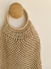 Load image into Gallery viewer, Round Handled Jute Macrame Bag