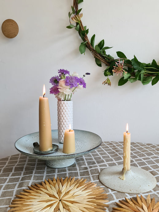 Giant Stubby English Beeswax Candles
