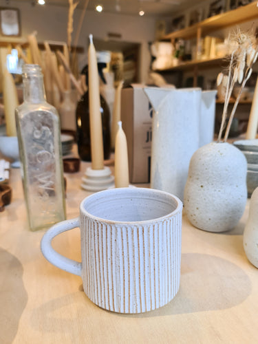 Laura Lane White Textured Cornish Mug
