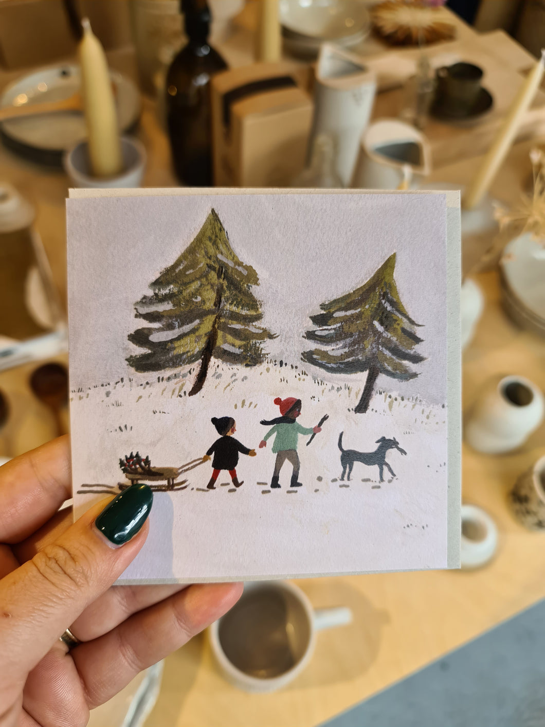 Gemma Koomen Out in the Snow Card
