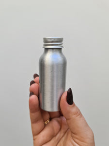 Aluminium Reusable Bottle - 50ml Travel Bottle Top