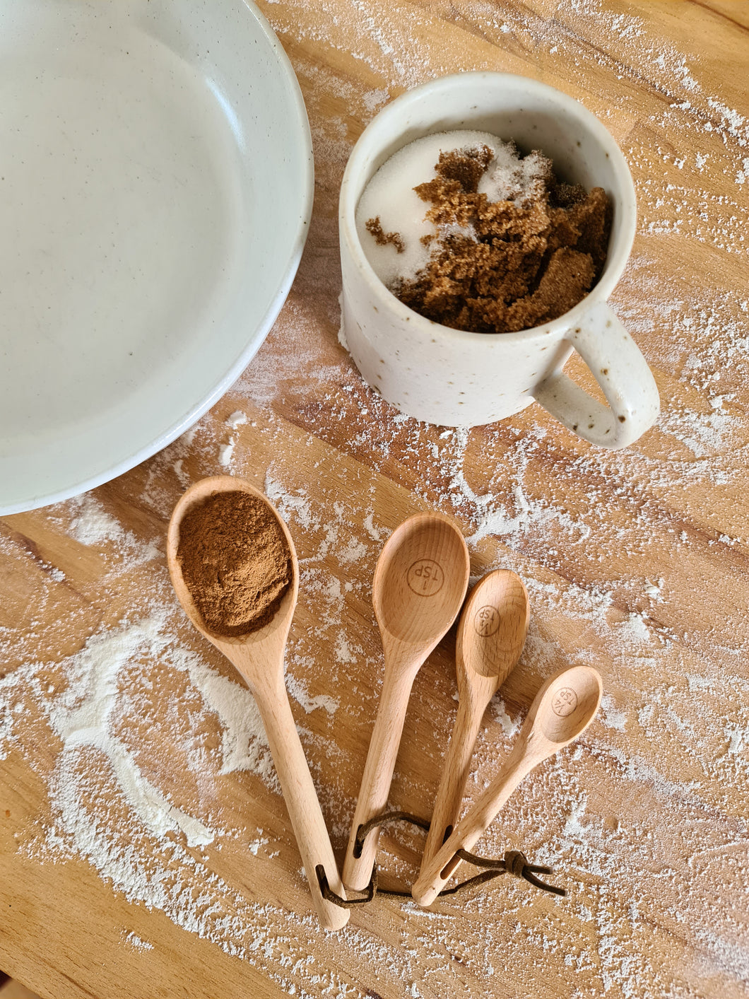 Wooden Beech Measuring Spoons