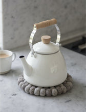 Load image into Gallery viewer, Enamel Stove Kettle - Warm White
