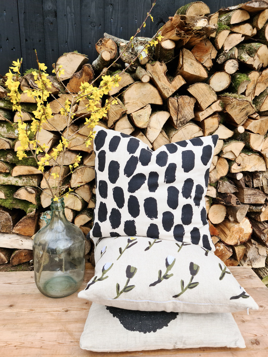 Fine Little Day Dots Cushion Cover - Black