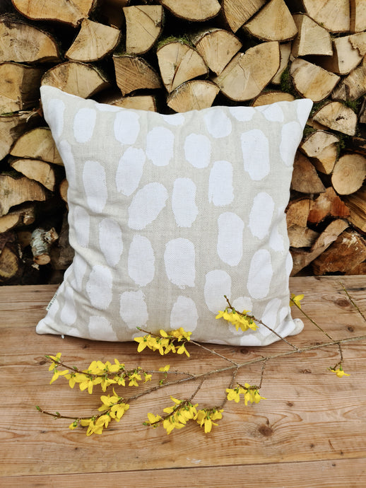Fine Little Day Dots Cushion Cover - White
