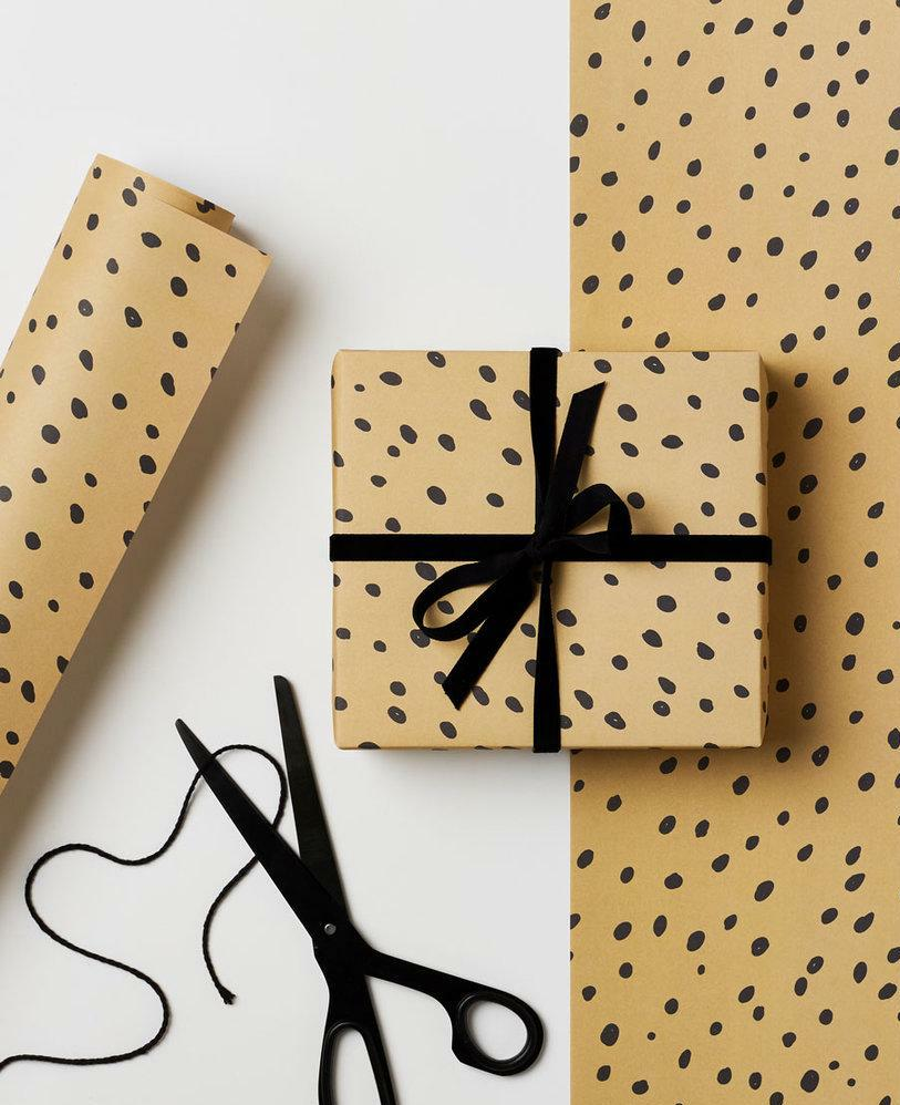 Kinshipped Hazelnut Dot Gift Wrap