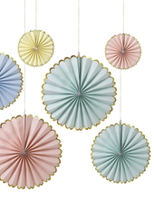 Load image into Gallery viewer, Meri Meri Pastel + Neon Pinwheel Decorations
