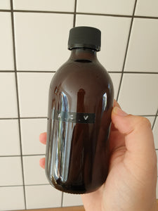 Amber Glass Reusable Bottle - 300ml Bottle Top