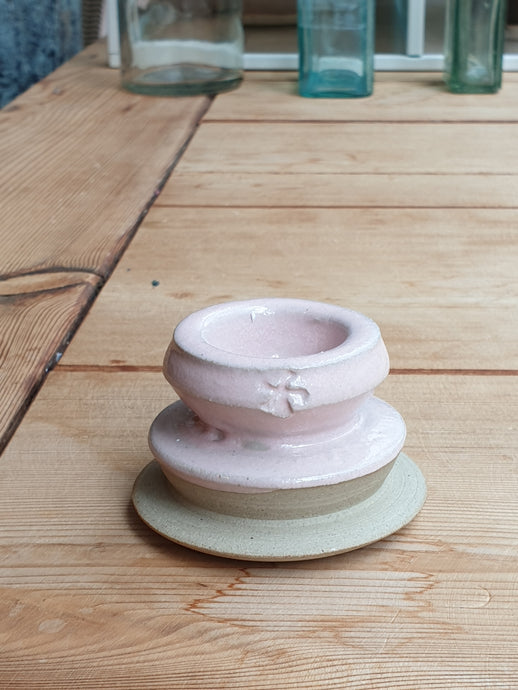 Windmill Pottery Candleholder - Pink