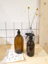 Load image into Gallery viewer, Amber Glass Reusable Bottle - 1000ml Spray Top