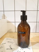 Load image into Gallery viewer, Amber Glass Reusable Bottle - 300ml Pump Top