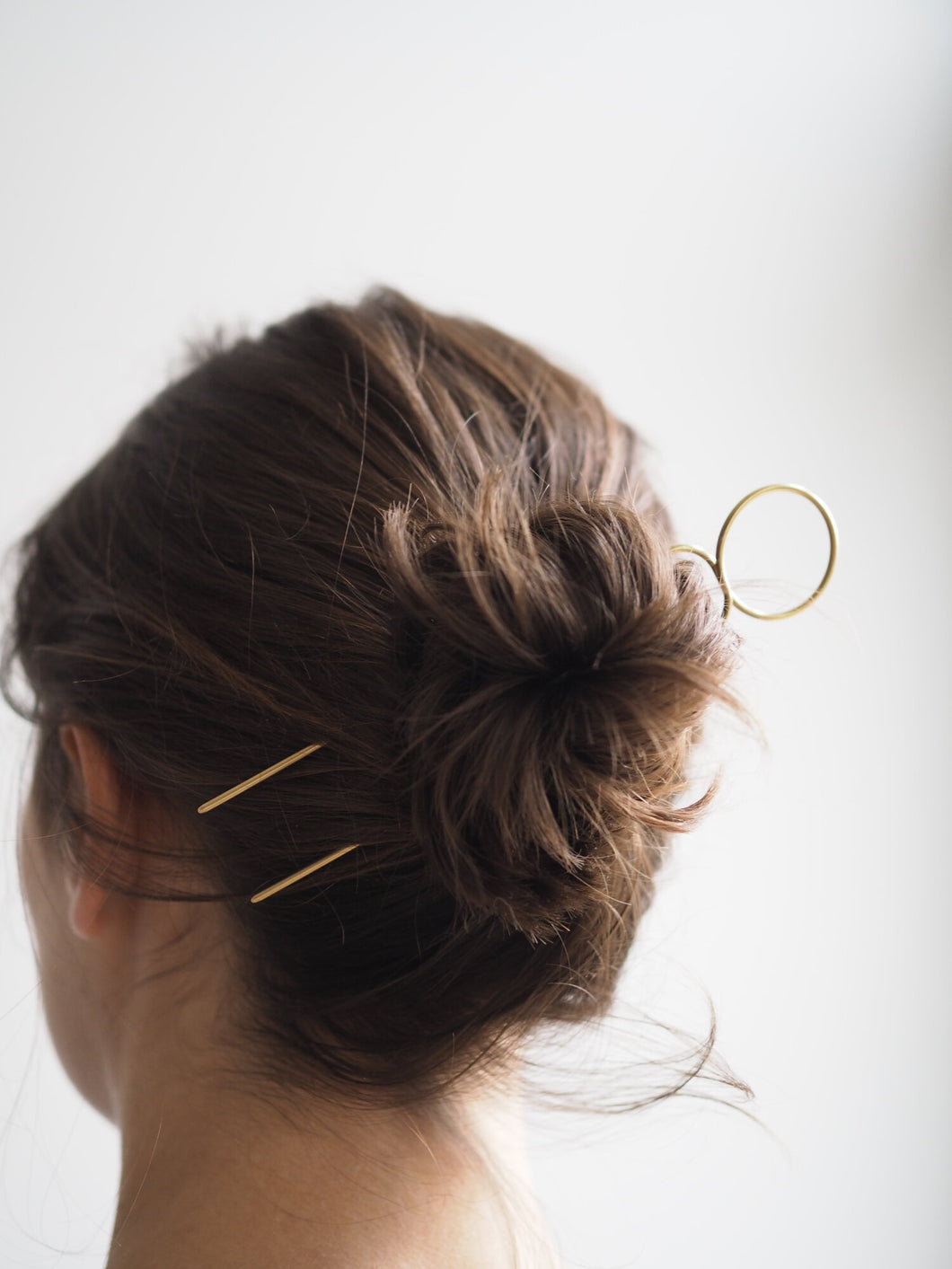 Roake Lizzy Minimal Brass Hair Pin - Loop