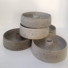 Load image into Gallery viewer, Viki Weiland Danish Stoneware Bowl Candle Holder