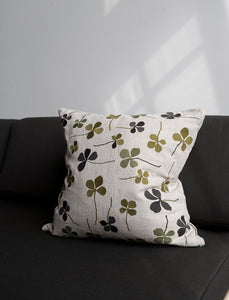 Fine Little Day Clover Embroidered Cushion Cover