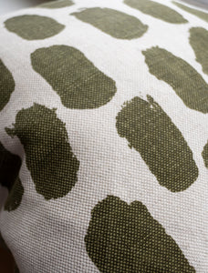 Fine Little Day Cushion Cover Dots - Olive