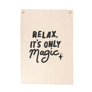 'Relax, It's Only Magic' Wall Flag - Seb & Charlie
