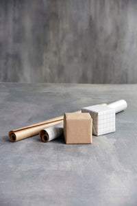 Monograph Kraft Gift Wrapping Paper