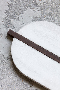 Concrete + Wood Oval Trivet