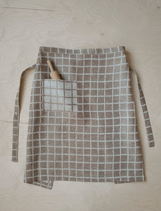 Fine Little Day Checkered Jacquard Woven Waist Apron