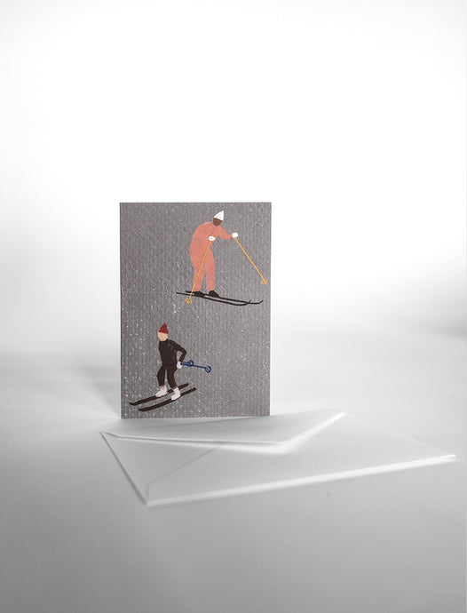 Fine Little Day Skiers Card - Small