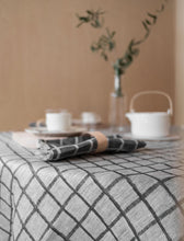 Load image into Gallery viewer, Fine Little Day Rutig Linen Tablecloth - Black