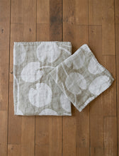 Load image into Gallery viewer, Fine Little Day Water Lilies Linen Towel - Olive