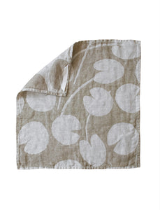 Fine Little Day Water Lilies Linen Towel - Olive