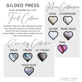 Foiled Planner Stickers - SMARTWATCH - Gilded Press Studio