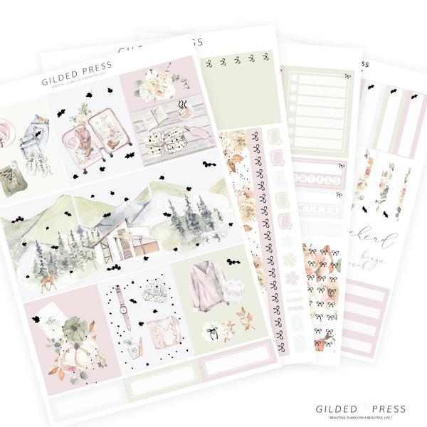 FOIL WEEKLY PLANNER STICKER KIT - AUTUMN GRACE - Gilded Press Studio
