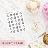Foil Planner Stickers - Baseball Planner Stickers - STICKERS